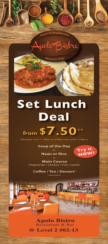 Apolo Bistro Set Lunch Deal