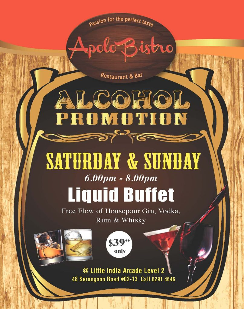 Alcohol Promotion Saturday & Sunday